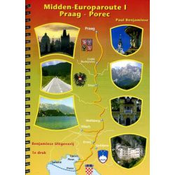 Midden Europaroute Praag-Porec uitgeverij Benjaminse
