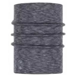Buff Heavyweight Merino Wool Nekwarmer Fog Grey Multi Stripes
